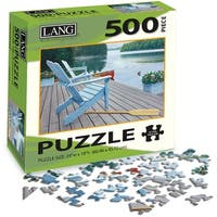 "Jigsaw Puzzle 500 Pieces 24""X18""-Lakeside Retreat"