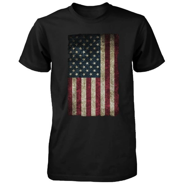 American Flag Men's T-shirt -July 4th Red White and Blue Graphic Tee