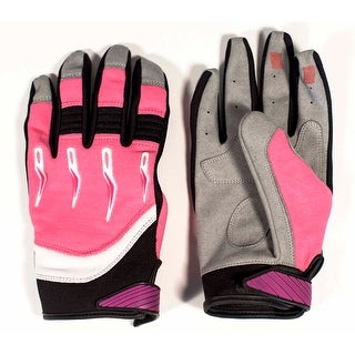 Race-Driven ATV MX Off Road Silicone Fingertip Riding Gloves - Pink