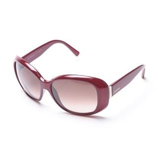 Valentino Women's Burgundy Oversized Sunglasses Burgundy - Small