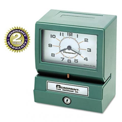 Model 150 Analog Automatic Print Time Clock With Month/date/1-12 Hours/minutes