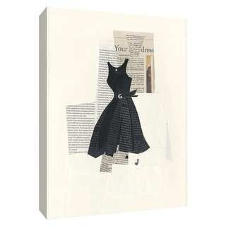 "PTM Images 9-154749  PTM Canvas Collection 10"" x 8"" - ""Little Black Dress IV"" Giclee Dresses Art Print on Canvas"