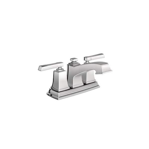 Moen 6010 Boardwalk Centerset Bathroom Faucet With Metal Pop Up Drain On Sale Overstock 21257138 Spot Resist Brushed Nickel