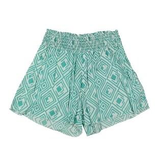 Lucky Brand Girls Smocked High-Waist Shorts - M
