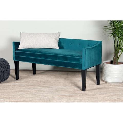 Leffler Home Gracie Button Tufted Upholstered Bench