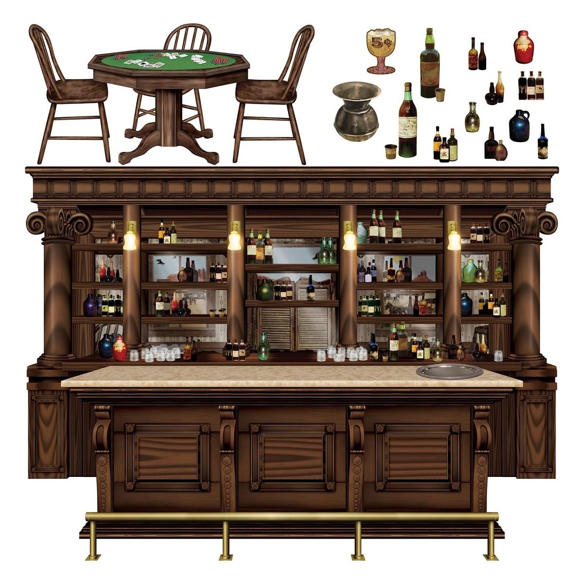180 Western Saloon Bar Table
