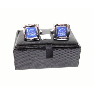 NCAA Boise State Broncos Square Cufflinks with Square Shape Logo Design Gift Box Set