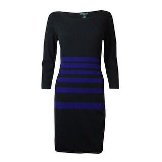 Lauren Ralph Lauren Women's Striped Sweater Dress
