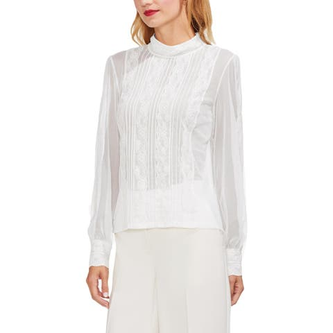Vince Camuto Womens Blouse Sheer Lace - S