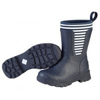 Muck Boots Navy/White Stripe Women's Cambridge Mid Boot - Size 10