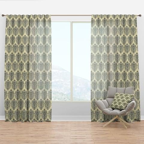 Designart 'Abstract Design Retro Pattern III' Mid-Century Modern Curtain Panel