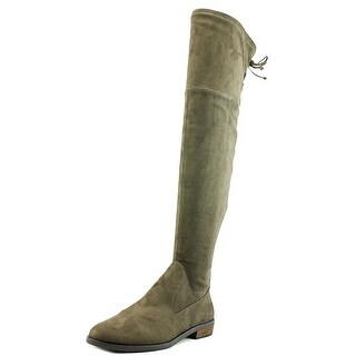 Vince Camuto Womens crisintha Leather Almond Toe Over Knee Fashion Boots