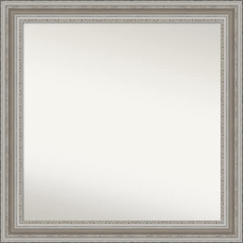 Choose Your Custom Size, 34-in side, Parlor Silver Framed Wall Mirror