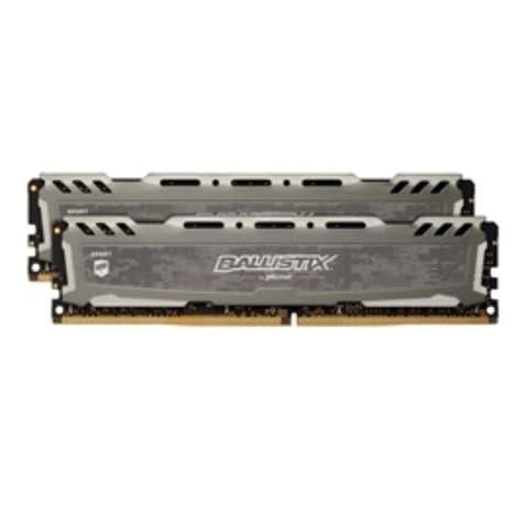 Crucial BLS2K16G4D32AESB 32GB DDR4 3200 Unbuffered 2x16G Ballistix Sport LT Grey Retail