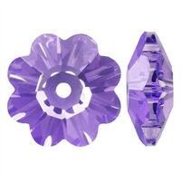 Swarovski Elements Crystal, 3700 Flower Margarita Beads 6mm, 12 Pieces, Tanzanite