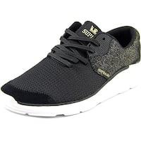 Supra Noiz Women Black Gold- White Sneakers Shoes