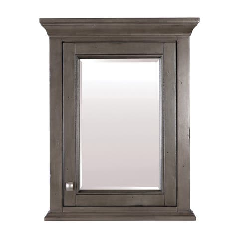 "Foremost BAC2228 Brantley 28"" H x 22"" W Single Door Framed Medicine Cabinet with Beveled Mirror"