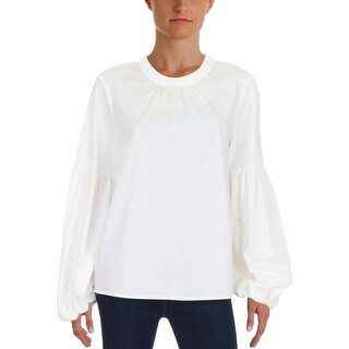 Vince Camuto Womens Petites Casual Top Ruffled Balloon Sleeves