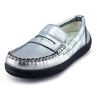 Primigi Choate-E Youth Moc Toe Leather Silver Loafer