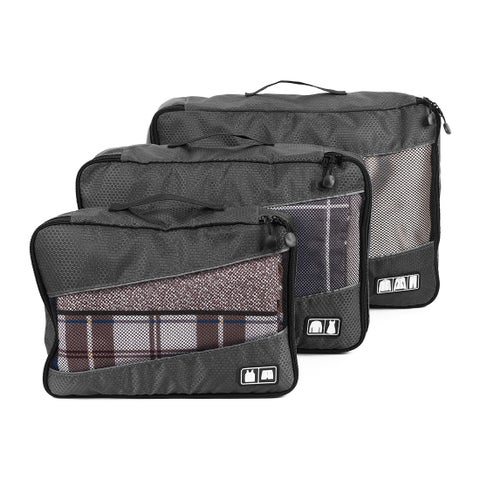 3PCS/Set Water Resistant Clothes Bags Packing Cube Travel Luggage Organizer Pouch