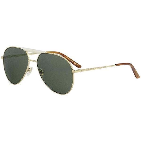 a6c9f709916fe Gucci Green Aviator Sunglasses Gg0292S 003 60 - AVANA-AVANA-GREEN - One Size