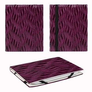 """JAVOedge Purple Glossy Wave 6"""" Universal eReader Book Style Case for the Nook Touch, Glowlight, Kobo Glo, Touch, Kindle"""