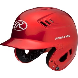 Rawlings Coolflo High School/College Batting Helmet (Scarlet Red/One Size)