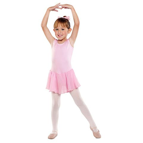 Danshuz Toddler Little Girls Pink Sleeveless Dance Dress 2T-14