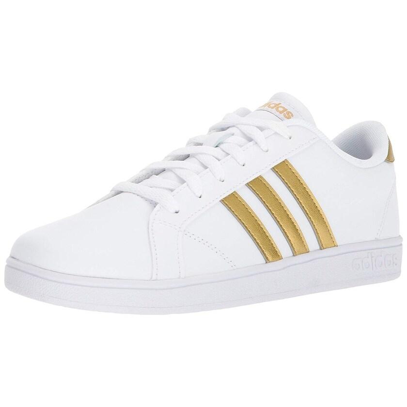 Shop Adidas Unisex-Kids Baseline, White