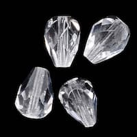 Czech Fire Polished Glass Beads 8 x 6mm Teardrop Crystal (20)