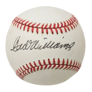Ted Williams Boston Red Sox Signed OAL Baseball BAS A62799