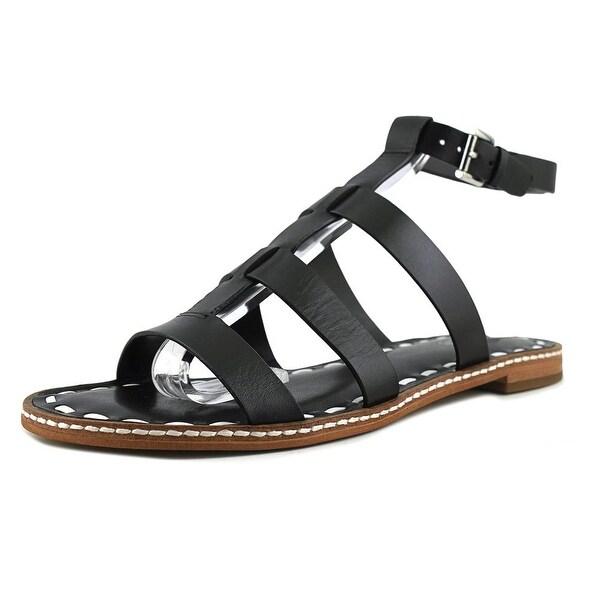 b91c9064a4e Shop Michael Michael Kors Fallon Flat Open-Toe Leather Slingback ...