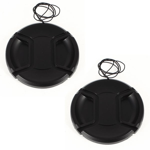 Unique Bargains 2 x DSLR Camera Front Lens Protective Cap Cover 72mm for Video Camcorders