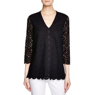 Tory Burch Womens Blouse Lace Eyelet