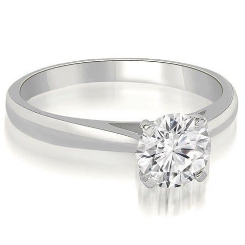 0.50 ct 14K White Gold Cathedral Solitaire Round Cut Diamond Engagement Ring HI, SI1-2