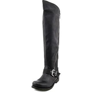 Carlos by Carlos Santana Gramercy Wide Calf Women Synthetic Black Knee High Boot
