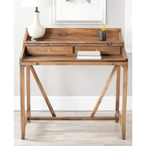 The Gray Barn Vahaio Oak Pull-out Writing Desk