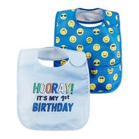 Carter's Baby Boys' 2 Pack 2-Pack Feeding Bibs, One Size