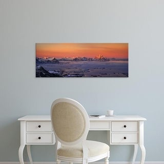 Easy Art Prints Panoramic Images's 'Islands in the sea, Austvagoy, Lofoten, Nordland County, Norway' Canvas Art