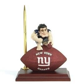 "New York Giants Mascot Desk Clock and Pen Set - 6.5"" x 5"""