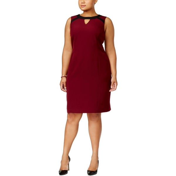 Kasper Womens Plus Cocktail Dress Sheath Special Occasion