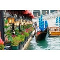 "LED Lighted Floral Shop with Gondola Ride Canvas Wall Art 11.75"" x 15.75"" - Thumbnail 0"