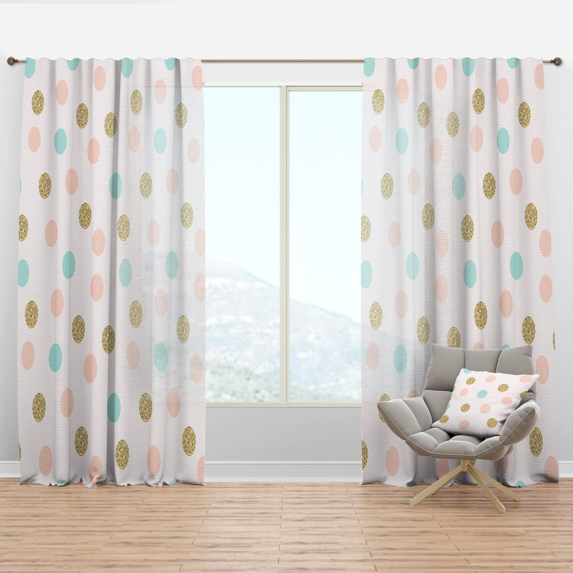 Designart Gold Chic Design Iii Mid Century Modern Curtain Panel Overstock 29625677
