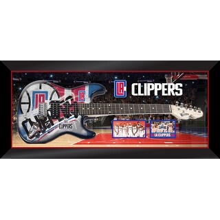Los Angeles Clippers Custom Framed Woodrow Guitar