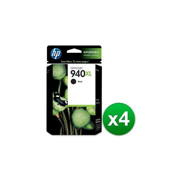 HP 940XL High Yield Black Original Ink Cartridge (C4906AN) (4-Pack)