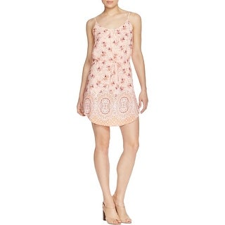 Sanctuary Womens Beach Casual Dress Floral Print Adjustable Straps