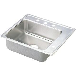 "Elkay DRKAD252240R 25"" Single Basin Drop In Stainless Steel Utility Sink"
