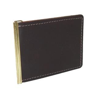 CTM® Men's Leather Basic Money Clip - One size