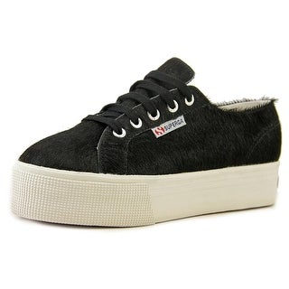 Superga Pony W Women Round Toe Suede Black Sneakers