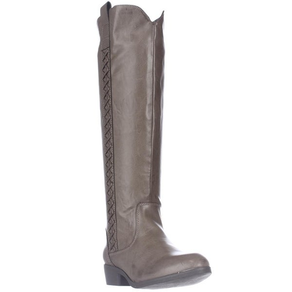 MIA Crossingss Knee-High Boots, Taupe - 6 us